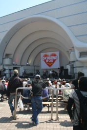 The band shell at Yoyogi Park. Turns out there is an Okinawa Festival in full swing.