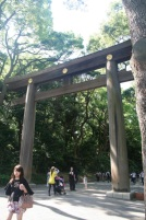Entering the Meiji Shrine. There are loads of Shrines all over Japan. This one gave me a good idea of what to expect. The gate is a portal between this world and the spirit world. http://en.wikipedia.org/wiki/Meiji_Shrine