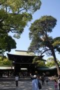 The entrance to the Meiji Shrine.