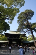 The entrance to the Meiji Shrine.