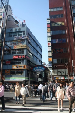 Ally ways can have whole neighborhoods in them. Just like this one in Shinjuku..
