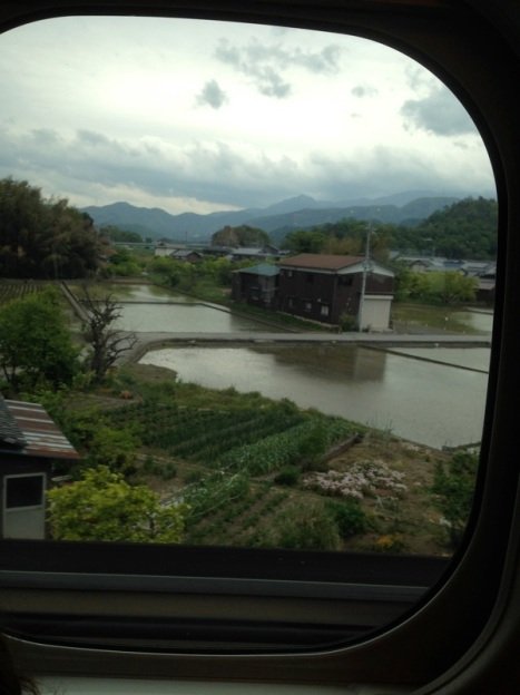 Traveling to Kyoto on the Shinkansen - bullet train. https://www.youtube.com/watch?v=EudvffuuFkQ