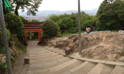 A view from the top of Fushimi Inari