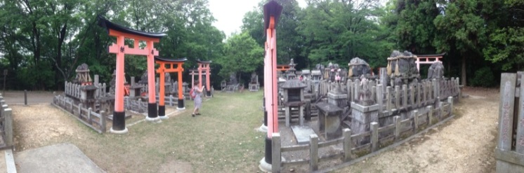 Another open shrine area at the top of the mountain. Someething about it remeinds me of a grave yard.