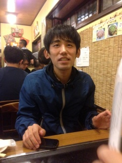 Nobu, our dinner companion. He took us to a popular pancake place for some Japanese Soul Food.