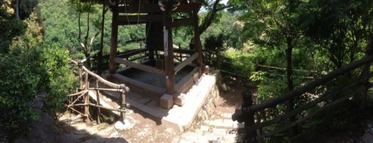 It eventually let us to a small Buddhist retreat. First we came upon a bell tower...