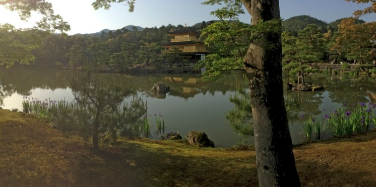 It's a Buddhist temple called Kinkaku-ji.