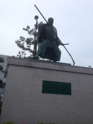 Statue of an ancient warrior monk Benkei. It's said that he was six and a half feet tall and killed at least 200 people in every battle he was ever in.