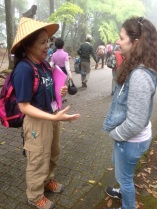 Casey meets our trail guide Jennifer. She will tell us everything we need to know about the pigramige.