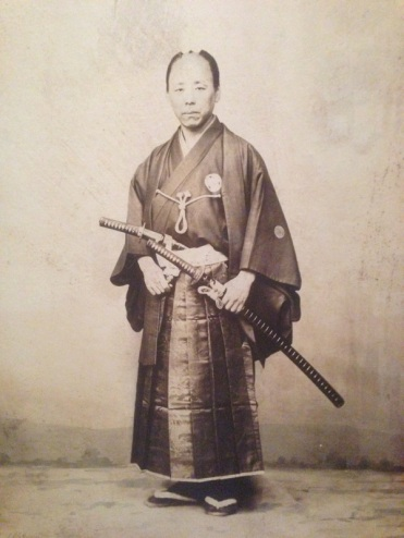 Another photo of a samuri circa 1870.