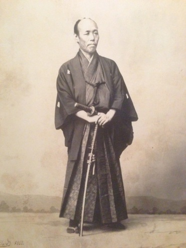 The day of the samuri was ending as photography became popular. Here is a photo of one of the last samuri shot around 1870