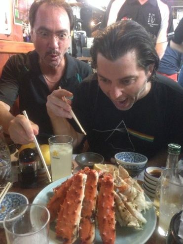 Marc preordered the crab a couple days before. The food was absolutly fantastic in Japan. Everywhere we went it was all fresh and delicious. Tokyo might be the best food city in the world.