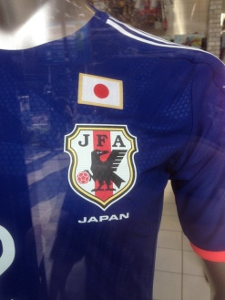The three legged crow from the shrine makes and appearance at the mascot for the Japanese World Cup team.