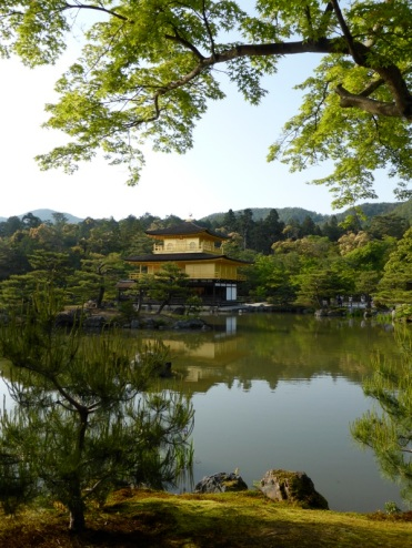 And was originally built in 1397 by the Shogun Ashikaga Yoshimitsu . After he passed, his son donated it as a Zen Temple.